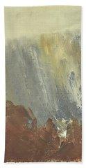 Skogklaedd Fjaellvaegg I Hoestdimma- Mountain Side In Autumn Mist, Saelen _1237, Up To 90x120 Cm Bath Towel