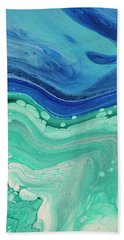 Hand Towel featuring the painting Sky And Water by Darice Machel McGuire
