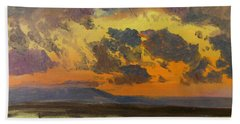 Sky At Sunset, Jamaica, West Indies - Digital Remastered Edition Bath Towel