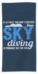 Sky Diving Bath Towel