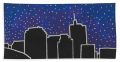 Bath Towel featuring the painting Skyline New Orleans by Samantha Galactica