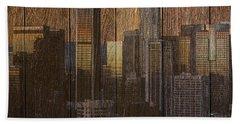 Skyline Of Los Angeles, Usa On Wood Hand Towel