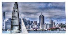 Skyline Sail  San Francisco Ca Hand Towel