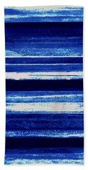 Skyscape-blue Abstract Bath Towel