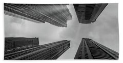 Skyscrapers Reach The Heaven Bath Towel