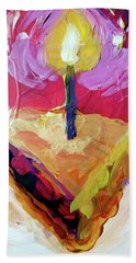 Bath Towel featuring the painting Slice Of Pie by Tilly Strauss