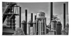 Sloss Furnaces Towers Bath Towel