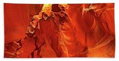 Slot Canyon Formations In Upper Antelope Canyon Arizona Hand Towel