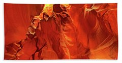 Slot Canyon Formations In Upper Antelope Canyon Arizona Bath Towel