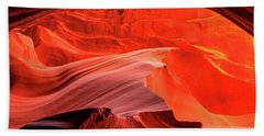 Slot Canyon Waves 1 Bath Towel