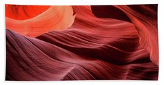 Slot Canyon Waves 2 Bath Towel