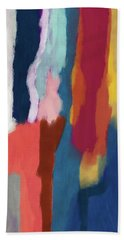 Slow Burn 2- Abstract Art By Linda Woods Hand Towel