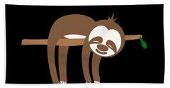 Slow Down Sloth Hand Towel