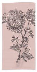 Small Anemone Blush Pink Flower Bath Towel