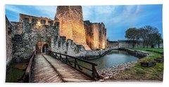 Smederevo Fortress Gate And Bridge Hand Towel