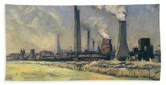 Smoke Stacks Prins Maurits Mine Bath Towel