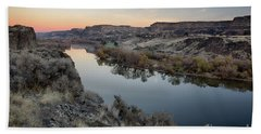 Snake River Dawn Hand Towel