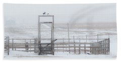 Hand Towel featuring the photograph Snow And Corral 01 by Rob Graham