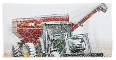 Hand Towel featuring the photograph Snow And Tractor 02 by Rob Graham