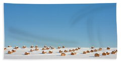 Snow Covered Rounds Bath Towel
