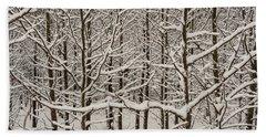 Snow Covered Trees Bath Towel