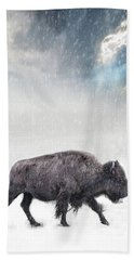 Snow Day Buffalo Hand Towel