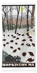 Snow Day In Hopkinton Hand Towel
