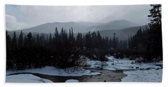 Hand Towel featuring the photograph Snow Squall by Dan Miller