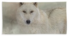 Snow Wolf Hand Towel