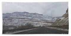 Snowy Mountain Road Hand Towel