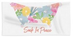 Soak In Peace- Art By Linda Woods Hand Towel