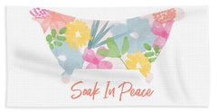 Bath Towel featuring the mixed media Soak In Peace- Art By Linda Woods by Linda Woods