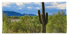 Bath Towel featuring the photograph Sonoran Desert Landscape Post-monsoon by Judy Kennedy