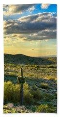 Sonoran Desert Portrait Bath Towel