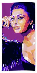 Sophia Loren Pop Art Bath Towel