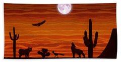 Southwest Desert Silhouette Hand Towel