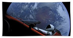 Spacex Driving Around Earth Bath Towel