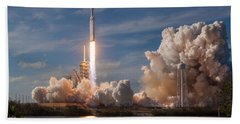 Spacex Falcon Heavy Demo Launch Lift Off Bath Towel