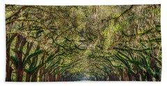 Spanish Moss Tree Tunnel Hand Towel
