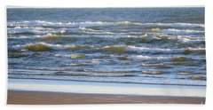 Sparkling Waves With Beach Bath Towel