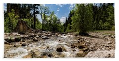 Spearfish Creek And Canyon, South Dakota Bath Towel