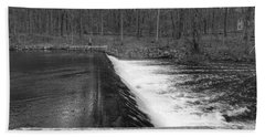 Spillway At Waterloo Village Hand Towel