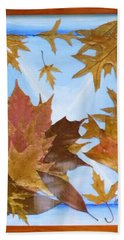 Splattered Leaves Hand Towel