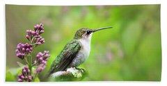 Spring Beauty Ruby Throat Hummingbird Hand Towel
