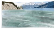 Spring Break The Alaska Highway At Muncho Lake Bath Towel