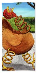 Spring Chicken Hand Towel