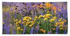 Spring Flowers Along The Road  Bath Towel