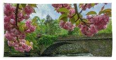Spring Garden On The Bridge  Hand Towel