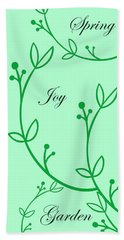 Spring Green Hand Towel