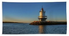 Spring Point Ledge Lighthouse On A Spring Morning Hand Towel